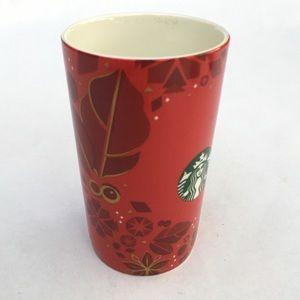 Starbucks Christmas Holiday Red Mug 16oz 2013